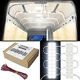 GAMPRO 12V 12W 40-LED Van Innenleuchte Kits, wasserdichte weiße LED-Deckenleuchte Kits für Van, Mini Van, Anhänger, LKW, Wohnmobil, Wohnwagen, Pickup, Boot, Ducato, Sprinter und alle 12V Fahrzeuge (12W)