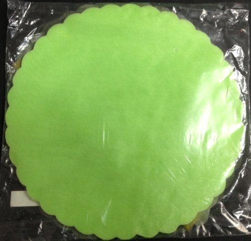 50 pezzi tulle veletti velo fata bomboniera confezione da 50 veli matrimonio diametro 24 cm (verde chiaro)