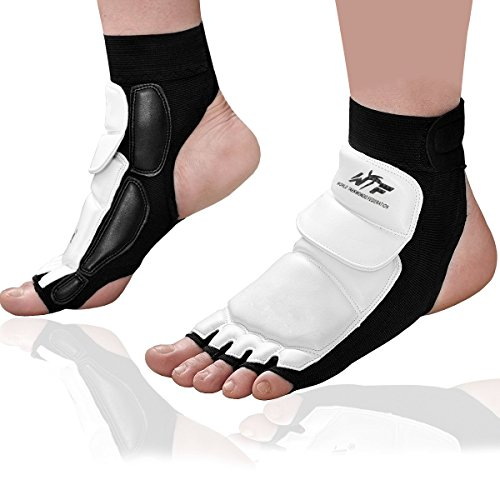 Kitchnexus - Taekwondo Fußschoner / Knöchelbandage für Kampfsport, Boxsack, Sparring, Training, MMA, UFC, Thi, S -