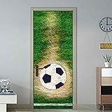 Türaufkleber Tür-Aufkleberpersönlichkeitstürhausdekoration-Wandaufkleber Der Fußballrasen Kreativen 77 * 200Cm