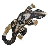maDDma ® Deko Gecko Gekko - Manis - aus Holz, Wandschmuck, 30cm