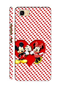 AMAN Dots Pattern & Cartoon Character 3D Back Cover for Asus Zenfone 3s Max