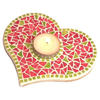 mosaic kit, Candle stand, green