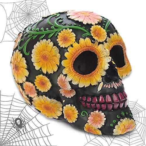mtb more energy Deko Totenkopf ''Sugar Skull'' - Tag der Toten - Totenschädel Figur Dekoration