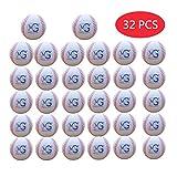 Makro-Riese 9-Zoll (Umfang) 2,8-Zoll (Durchmesser) Weichschaum-Baseball, 32-er Set, weiße Farben, Baseball-Übungsübung, Elternschaft, Kindergeschenke, Geburtstagsgeschenke