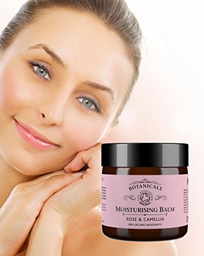 Botancials Nourish Intensive Face Balm - Rose & Camellia, Intense Nourishing Hydrating Facial Moisturiser For Dry or Mature Skin, 100% Natural & Certified Organic Ingredients (30g)