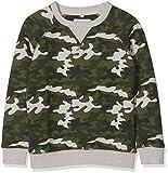 Fat Face Jungen Sweatshirt CAMO Print Crew Grün (Khaki) 4-5 Jahre