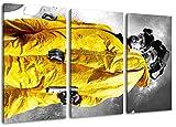 Breaking Bad Motiv, 3-teilig auf Leinwand (Gesamtformat: 120x80 cm), Hochwertiger Kunstdruck als Wandbild. Billiger als ein Ölbild! ACHTUNG KEIN Poster oder Plakat!