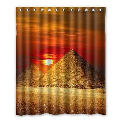 Dongmen piramidi d'egitto immagine costume tenda della doccia shower curtain 152cm x 183cm
