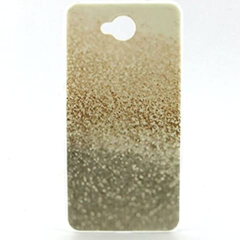 sable doré Premium gel TPU souple Clair Bumper silicone protection Housse arrière coque étui Pour Nokia Lumia 650