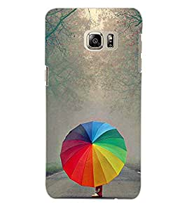 ColourCraft Rainbow Umbrella Back Case Cover for SAMSUNG GALAXY S6 EDGE PLUS