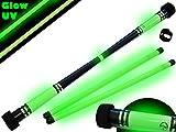 Pro Baton du Diable Set MOONSHINE (GLOW Deco) + Ultra-Grip Silicone Bâtons en BOIS! Professionnel en Bois Bâtons de Diable, Bâtons de Jonglage!