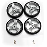 (Spare Parts) Zeta Vooom Wheels - Rear - Grey x4 Stroller Pushchair Buggy