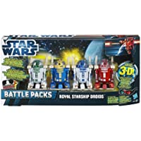 Star Wars Royal Starship Droids Battle Pack - 4 Astromech Droids: R2-D2, R2-B1, R2-N3 & R2-R3