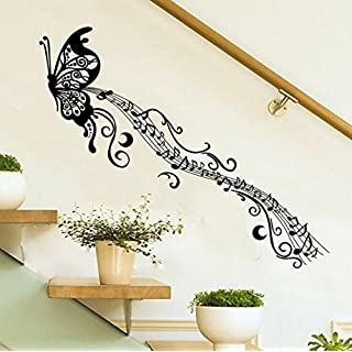 erthome Removable Vinyl Wall Sticker Mural Decal Art Living Room Decors -3D Musical Notes Butterfly (Butterfly)