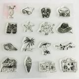 JAGENIE Urlaub Transparent Silikon Clear Stamp Cling Tagebuch Scrapbooking DIY Dekor
