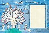 YongFoto 2,2x1,5m Polyester Foto Hintergrund Taufe Gott segne Baum der Liebe Winkel Taube Blaues Holz Fotografie Hintergrund Photo Booth Baby Party Banner Kinder Fotostudio Requisiten