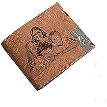 Cartera Personalizada de Cuero de la Cartera de la Foto del Mens - Un Regalo Personalizado