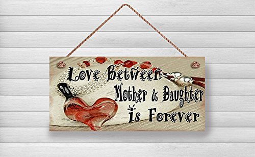 Norma (Mutter & daugher, Liebe zwischen Mutter und daugher, Aufschrift Mother Daughter Is Forever, Muttertags-Schild, 10 x Schild aus Holz.