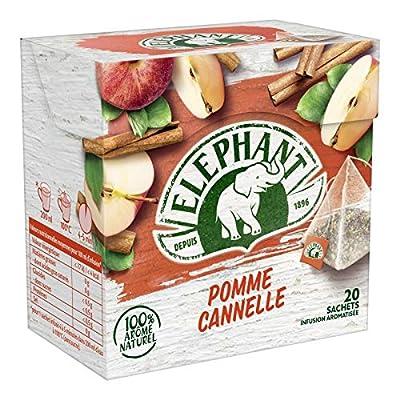 Elephant - Infusion Pomme Cannelle 36G - Lot De 4 - Vendu Par Lot - Livraison Gratuite En France