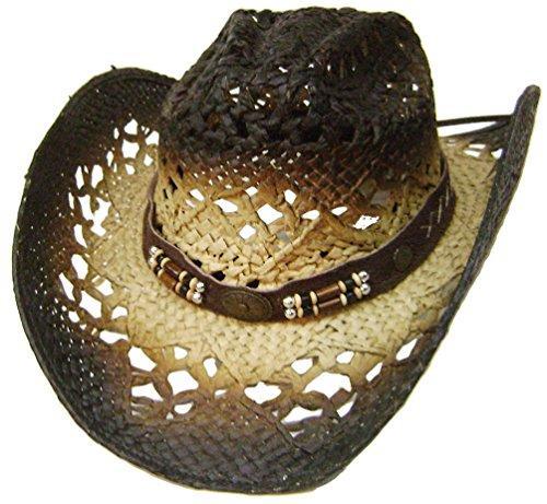 Modestone Straw Breezer Cowboy-Hut Size:Small Beige (Cowboy-hüte Larry Mahan)