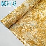 Ölbeständig Wasserfest Aufkleber Küche Arbeitsplatten Marmor Fliesen Haushalt Verdickte Selbstklebende Aufkleber Groß, Gelb, 60 Cm*5 M