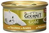 Friskies Cat Gourmet Gold, Dadini in Salsa con Tacchino e Anatra, 85 g