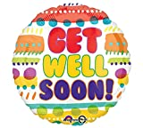 Burton & Burton Get Well Soon Foil/Mylar Balloon