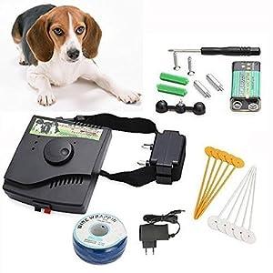 ROGUCI Clôture chien métro électrique Collier système chocs train collier électronique(9V Batterie pour collier récepteur)