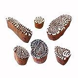 Royal Kraft Henna Holz Druck Indisch Paisley Muster Blocke Stempel (Set von 6)