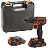 BLACK DECKER BDCDC18KB-GB 18 V Drill Driver with Kit Box and 2 Batteries