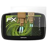 atFoliX Displayschutz für TomTom Start 50 Spiegelfolie - FX-Mirror Folie mit Spiegeleffekt