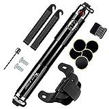 WESTGIRL Mini Bike Pumpe, Fahrrad Reifen Pumpe Passend für Presta- und Schrader zuverlässige Hand Luftpumpen High Druck 150 PSI für Road, Mountain und BMX-Räder (Schwarz-A)