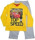 Cars Disney 2 Kollektion 2016 Schlafanzug 92 98 104 110 116 122 128 Jungen Pyjama Neu Lang Lightning McQueen Gelb-Grau (98-104, Gelb-Grau)