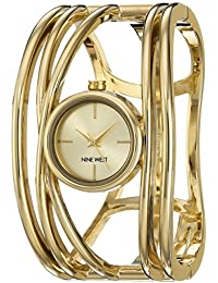 Nine West Analogue Champagne Gold Tone Dial Women's Watch - Nw/1974Chgb