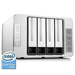 TerraMaster F4-220 Serveur NAS 4 Baies Intel Dual Core 2.41GHz 2 Go de RAM Stockage Réseau RAID pour les petites / moyennes entreprises (Diskless)