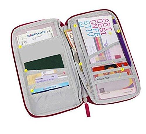tfxwerws Portable Travel Passport Kredit ID Card Holder Organizer Wallet -