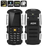 Handy robust AGM M1–IP68, IMEI Dual, 3G, 2570mAh Akku abnehmbar, 2MP Kamera