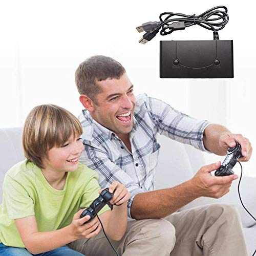 Juego 3 en 1 Game Cube Controller Convertidor USB, adaptador con botones de...