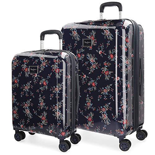Set valigie 55-70cm Pepe Jeans Emerald Azzurro