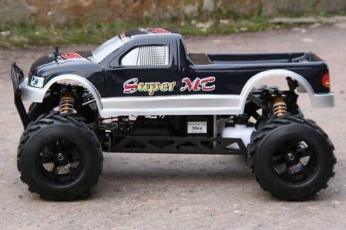 RC Auto kaufen Monstertruck Bild 3: RC MEGA MONSTER TRUCK 1:4 4X4 RTR 35ccm 4PS 80Km/h VERBRENNER 1:5 NEUHEIT*