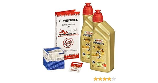 Castrol 10w 40 Öl Mahle Ölfilter Für Honda Nx 650 Dominator 88 00 Rd02 Rd08 Ölwechselset Inkl Motoröl Filter Dichtring Auto