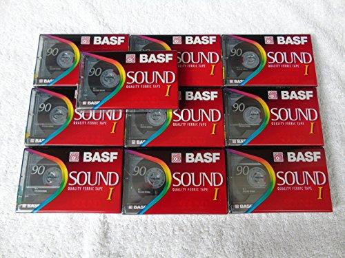 10-x-brand-new-sealed-basf-sound-i-type-i-90-min-blank-audio-cassette-tapes