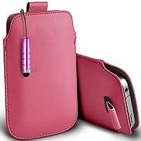 Rosa chiaro Shelfone–Protezione in pelle con linguetta per Blackberry Curve 8310(L) pennino capacitivo