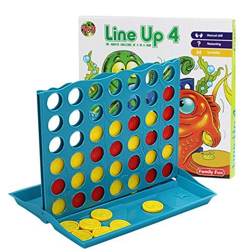 Somesun connect 4 in a row quattro in un gioco line board family fun take on trips fab mini four-chain double battle gioco da tavolo spazio neonato chicco passeggino dentizione