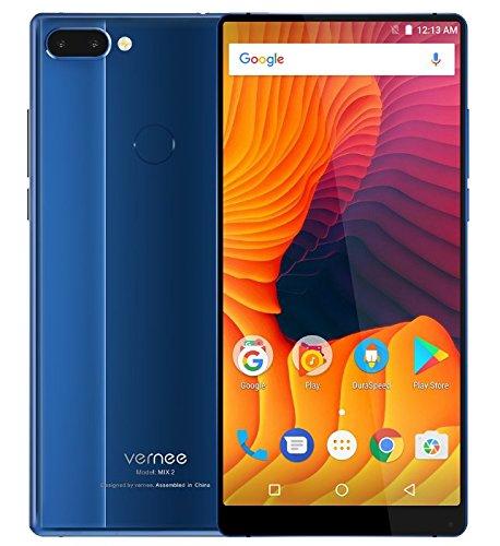 Vernee Mix 2-6,0 Pouces FHD (18: 9 Tous écran) Octa Core 2.5GHz 4 Go + 64 Go, Triple caméra (8MP + 5MP + 13MP), GPS, Batterie 4200mAh - Bleu