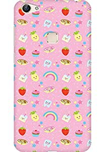 AMEZ designer printed 3d premium high quality back case cover for Vivo X6 (cute sweets)