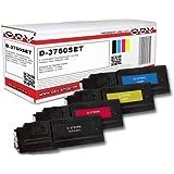 4 x Kompatibler Toner für Dell C3760 / C3765, schwarz ,cyan ,magenta, gelb