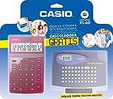 Casio KL-60-JW200RDTV-ES - Paquete de etiquetadora KL-60 con calculadora JW-200TV, color azul