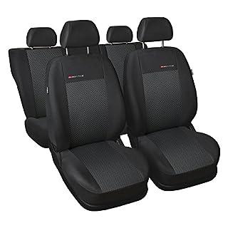 gsmarkt | Universal 5-Sitze Grau | Sitzbezüge Komplettset Sitzbezug für Auto Sitzschoner Set Schonbezüge Autositz Autositzbezüge Sitzauflagen Sitzschutz Elegance